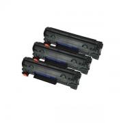 Pack 3 Toneres Impresora HP LASERJET PRO M1136 MFP compatible