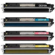 Pack 4 Toner HP CE310A Tinta Compatible