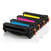 Pack 4 Toner HP CC530A Compatible