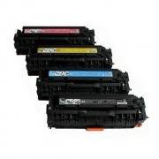 Pack 4 Toner HP CE410X Compatible
