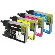 DCP-J525W    Pack 4 Cartuchos Impresora Brother DCP-J525W Compatible