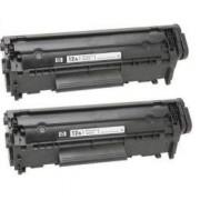 Pack 2 Q2612A Toner HP Compatible