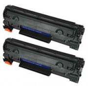 Pack 2 CE278A Toner HP Compatible
