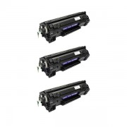 Pack 3 CE278A Toner HP Compatible