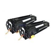 Pack 2 CB436A Toner HP Compatible
