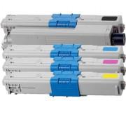 C130 N Pack 4 Toner Oki C130 N Compatible