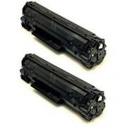 Pack 2 CB435A Toner HP Compatible