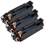 Pack 3 CB435A Toner HP Compatible
