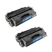 Pack 2 CF280X Toner HP Compatible