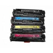 M251NW Pack 4 toneres para impresora HP COLORLASERJET PRO 200 M251NW BK compatible