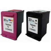 1050 Pack 2 Cartuchos Impresora HP DESKJET 1050 Compatible