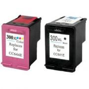 D1600 Pack 2 Cartuchos Impresora HP DESKJET D1600 Compatible