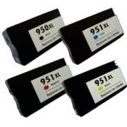 Pack 4 Cartuchos Impresora HP OFFICEJET PRO 8100 N811A Compatible