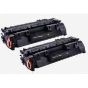 Pack 2 Toneres Impresora HP LASERJET PRO 400 M401A compatible